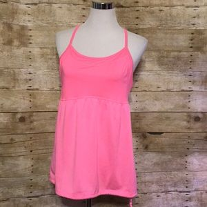Pink exercise tank